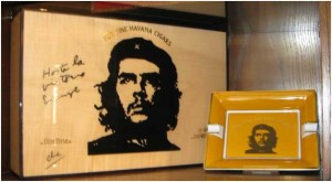 Che in the shop of a Geneva Tobacconist