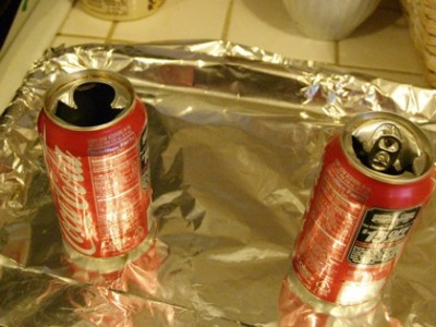 opened cans