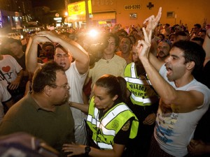 "Screaming, frothing (but pro Juanes) ""Cubans"" arrested on Calle Ocho"