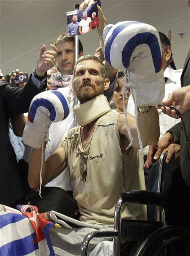 APTOPIX Cuba Freed Prisoner