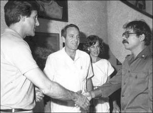 John Kerry y Daniel Ortega
