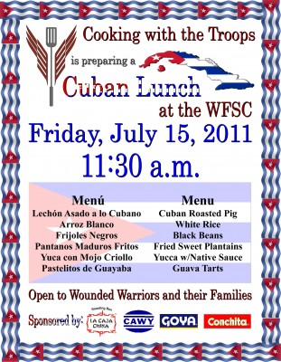 Cuban Lunch by Cooking with the Troops