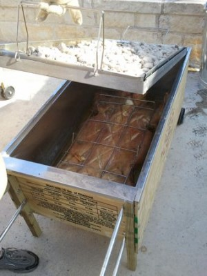 Pig in Caja China