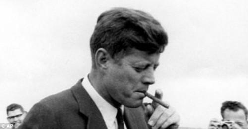 JFK smokin