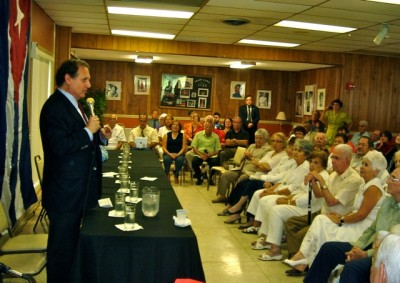 Meeting with the Cuban community in Tampa, Florida
