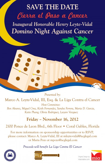 Liga Contra El Cancer domino night