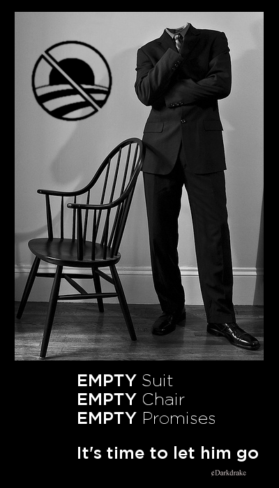 Empty suit, empty chair, empty promises