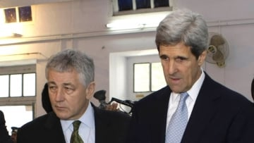 Chuck Hagel and John Kerry