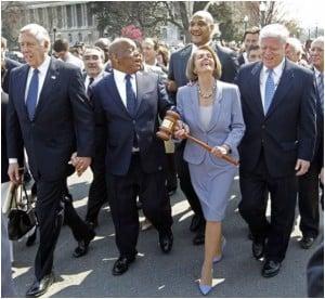 Pelosi-ObamaCare-Gavel-Walk