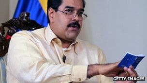 Saddamito el Platanito Maduro interprets the Venezuelan constitution on television