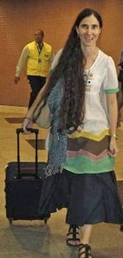 yoani-sanchez-airport