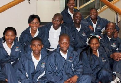 South African medical students pose for photo before departing for Castrogonia