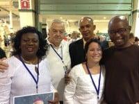 Berta Soler, George Utset, Laurita Labrada (Laura Pollan's daughter), Dr. Darsi Ferret, and Manuel Cuesta Morua