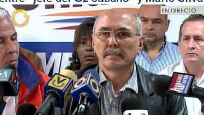 Venezuelan opposition politician Ismael Garcia releases incriminating transcript on television
