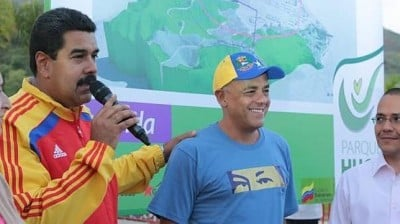 Nicolás Maduro and the mayor of Caracas, Jorge Rodríguez announce the park project.