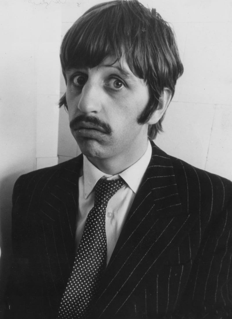 Description=Beatles drummer Ringo Starr eats fish and chips, 1967.