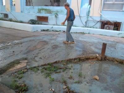 Sewage overflow, El Vedado, Havana, Cuba