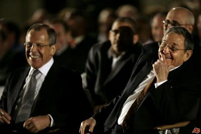 Sergei Lavrov with one of his best pals