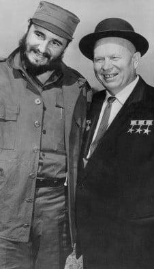 Castro with Nikita Khrushchev