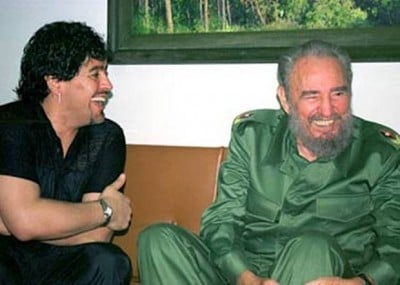 Havana a good time- Maradona with Cuban President Fidel Castro