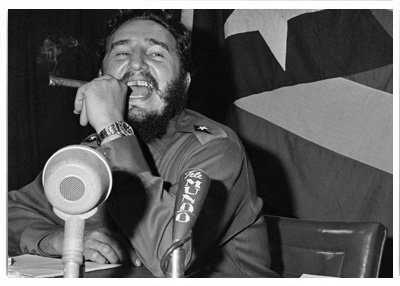 Fidel Castro with Cuban Flag