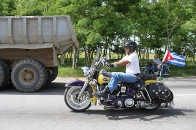 one of the four motorcycles sold in Cuba over the past few months