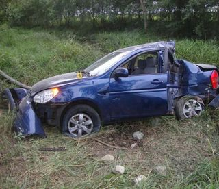 "The car that allegedly crashed head-on, causing the ""accidental"" deaths of Paya and Cepero"
