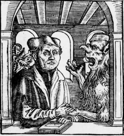 luther and devil