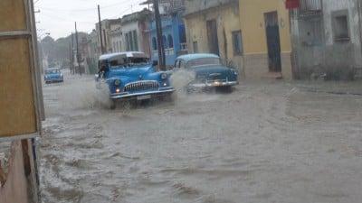 Calles convertidas en ríos 1