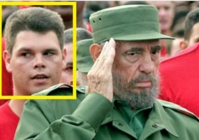 "Fidel III and his ""abuelito"""