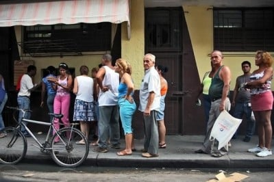 Cuban bread line