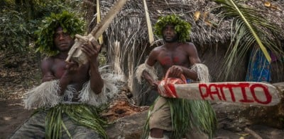 Melanesian cargo cults attempt to obtain material wealth through magic and religious ritual. (Vlad Sokhin)