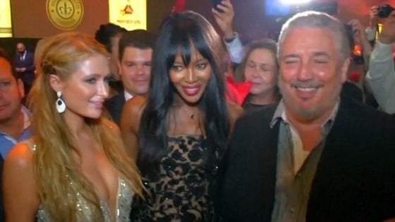 Paris HIlton, Naomi Campbell, and Fidel Castro, Jr., at swank party in Havana