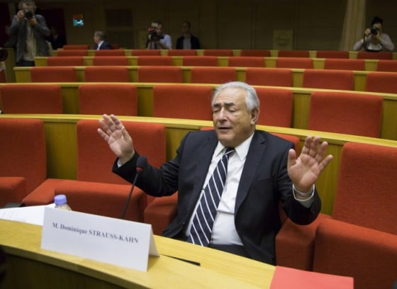Strauss-Kahn attends French senate inquiry