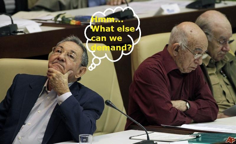 King Raul and Minister Machado Ventura