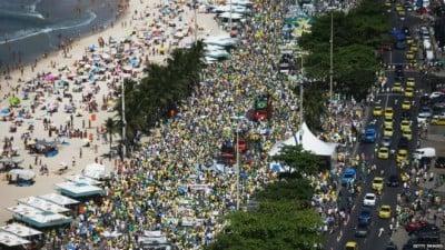 Anti-Rouseff Protest in Rio de Janeiro