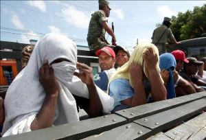 "Cuban ""migrants"" detained as they tried to cross from Honduras into Mexico"