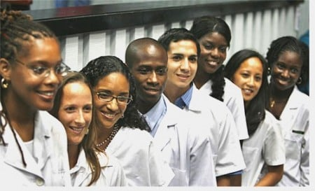 South African medical students in Castrogonia