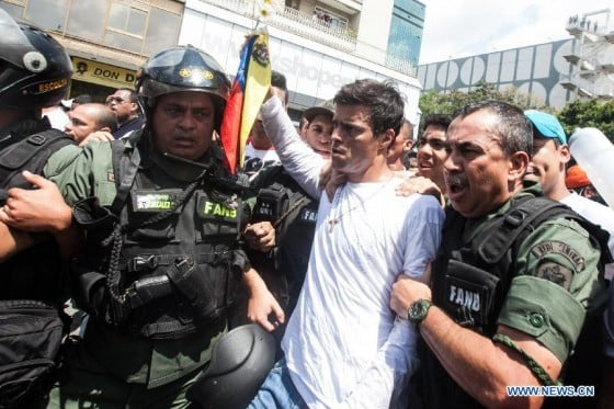 Leopoldo Lopez arrest, 2014