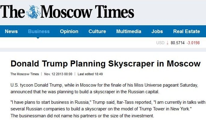 Image result for trump tower moscow