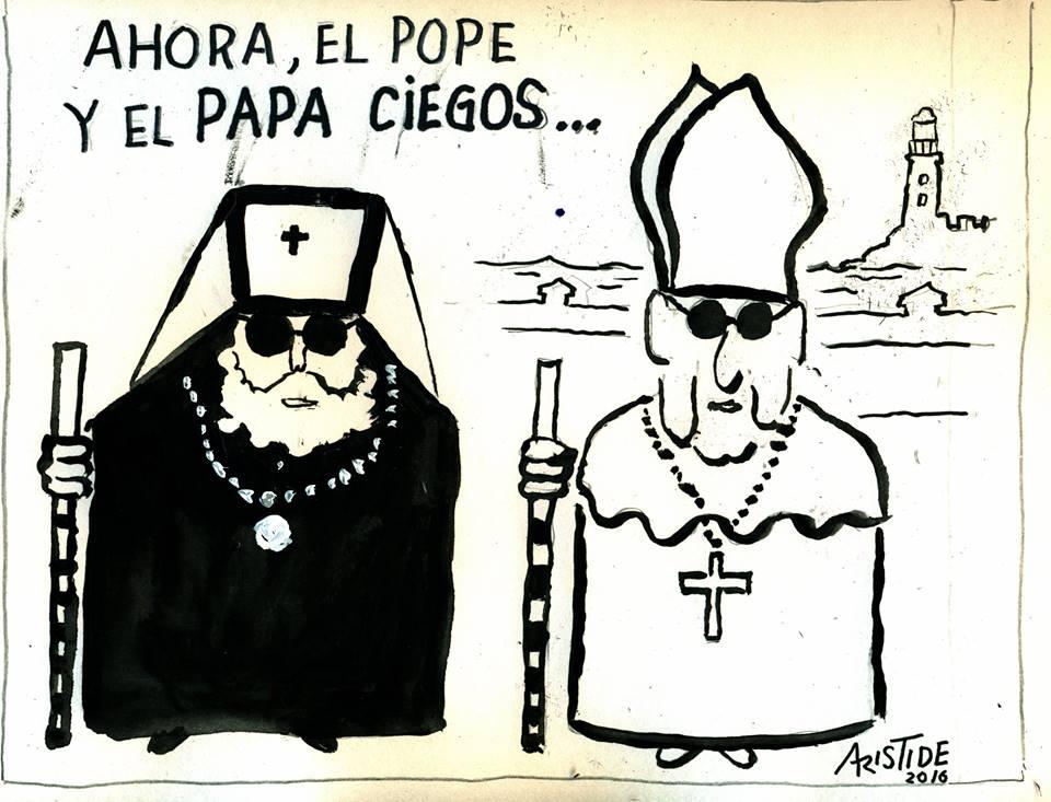 blind pope aristide