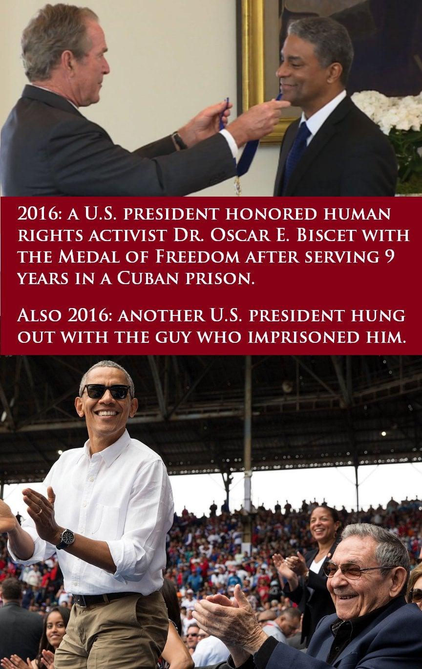 obama bush cuba difference meme