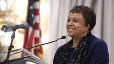Carla Hayden, shown in 2015, was confirmed by the Senate on Wednesday to head the Library of Congress. Hayden is the longtime leader of Baltimore's library system