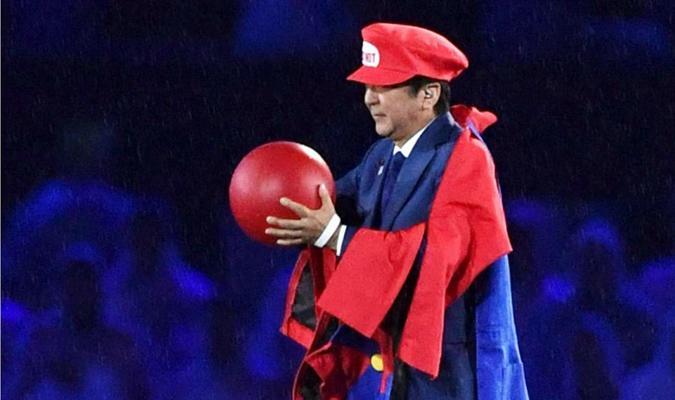 Prime Minister Abe as Super Mario