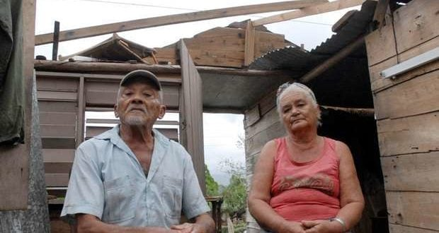 Elderly married couple married in their house which was destroyed by Hurricane Matthew in Jesús Lores, El Marrón neighbourhood, Guantánamo.