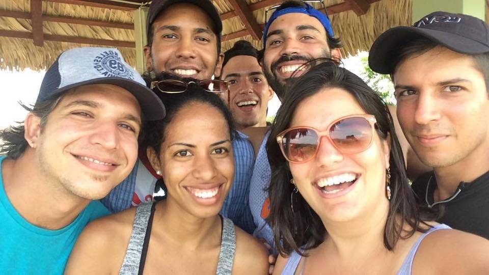 The team of Periodismo de Barrio heading to Baracoa, Guantánamo. via Facebook