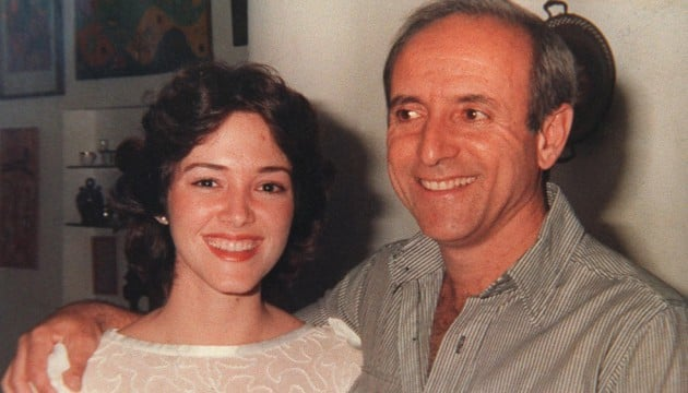 The author and her late father
