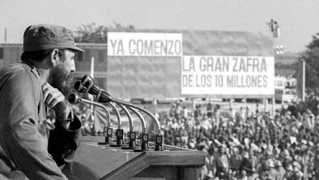 """Now it begins, The Great 10 Million [ton] Harvest."" Fidel Castro promoting the 10 million ton of sugar harvest from 1969 to 1970."