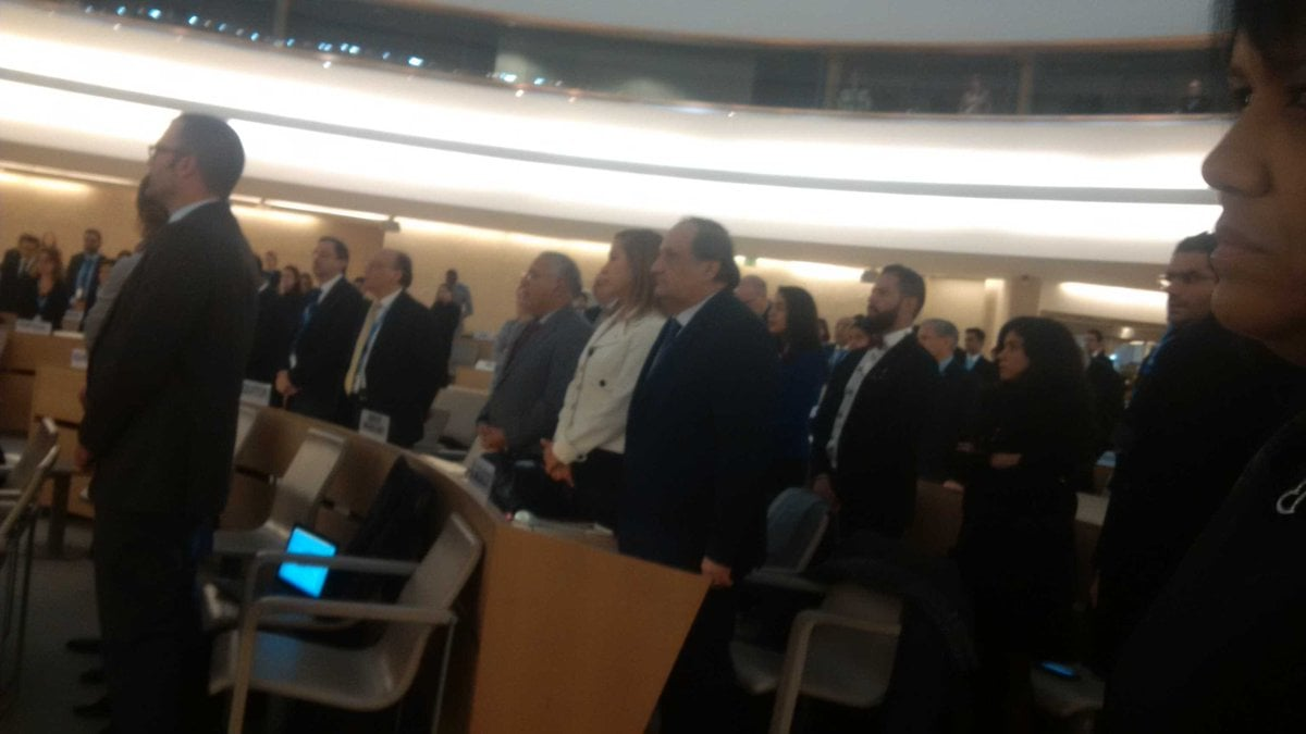 Photo taken by Cuban Mission to the UN during moment of silence for Castro