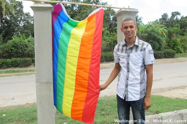 Nelson Gandulla Díaz, president of the Cuban Foundation for LGBTI Rights, stands outside his home near Cienfuegos, Cuba, in May 2015.